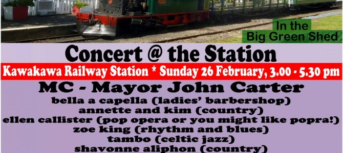 Concert @ The Station – Sun 26th Feb – 3pm