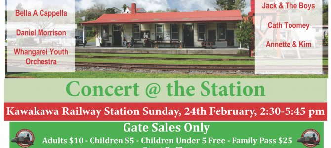 Date for your Diary: Concert at the Station – 24th February